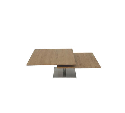 COUCHTISCH in Holz, Metall 75/75/30+38 cm - Eichefarben, Design, Holz/Metall (75/75/30+38cm)