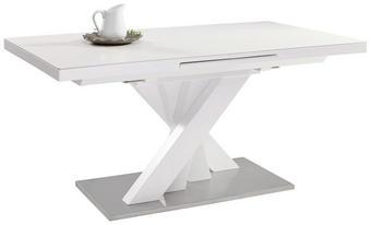 STOL ZA BLAGOVAONICU - bijela/boje oplemenjenog čelika, Design, drvni materijal/metal (160(210)/89,5/76cm) - NOVEL