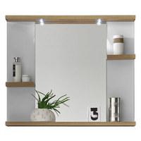 SPIEGEL 80/68/12 cm - Eichefarben/Weiß, Design, Glas/Holzwerkstoff (80/68/12cm) - Xora