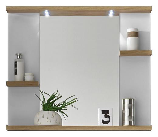 SPIEGEL - Eichefarben/Weiß, Design, Glas (80/68/12cm) - Xora