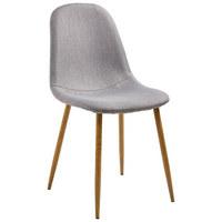 STUHL Webstoff Braun, Grau - Eichefarben/Braun, Design, Textil/Metall (44/87/49,5cm) - TI`ME
