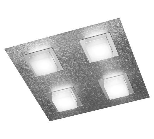 LED-DECKENLEUCHTE   - Alufarben, Design, Metall (30/30/52cm)
