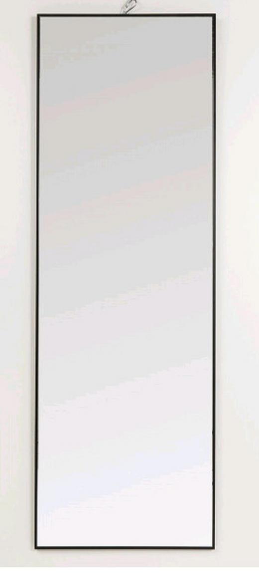 WANDSPIEGEL Schwarz - Schwarz, MODERN, Glas/Metall (30/130/3cm) - Kare-Design