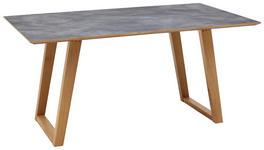 ESSTISCH Wildeiche massiv rechteckig Grau, Eichefarben  - Eichefarben/Grau, KONVENTIONELL, Holz/Kunststoff (160/90/76cm) - Dieter Knoll