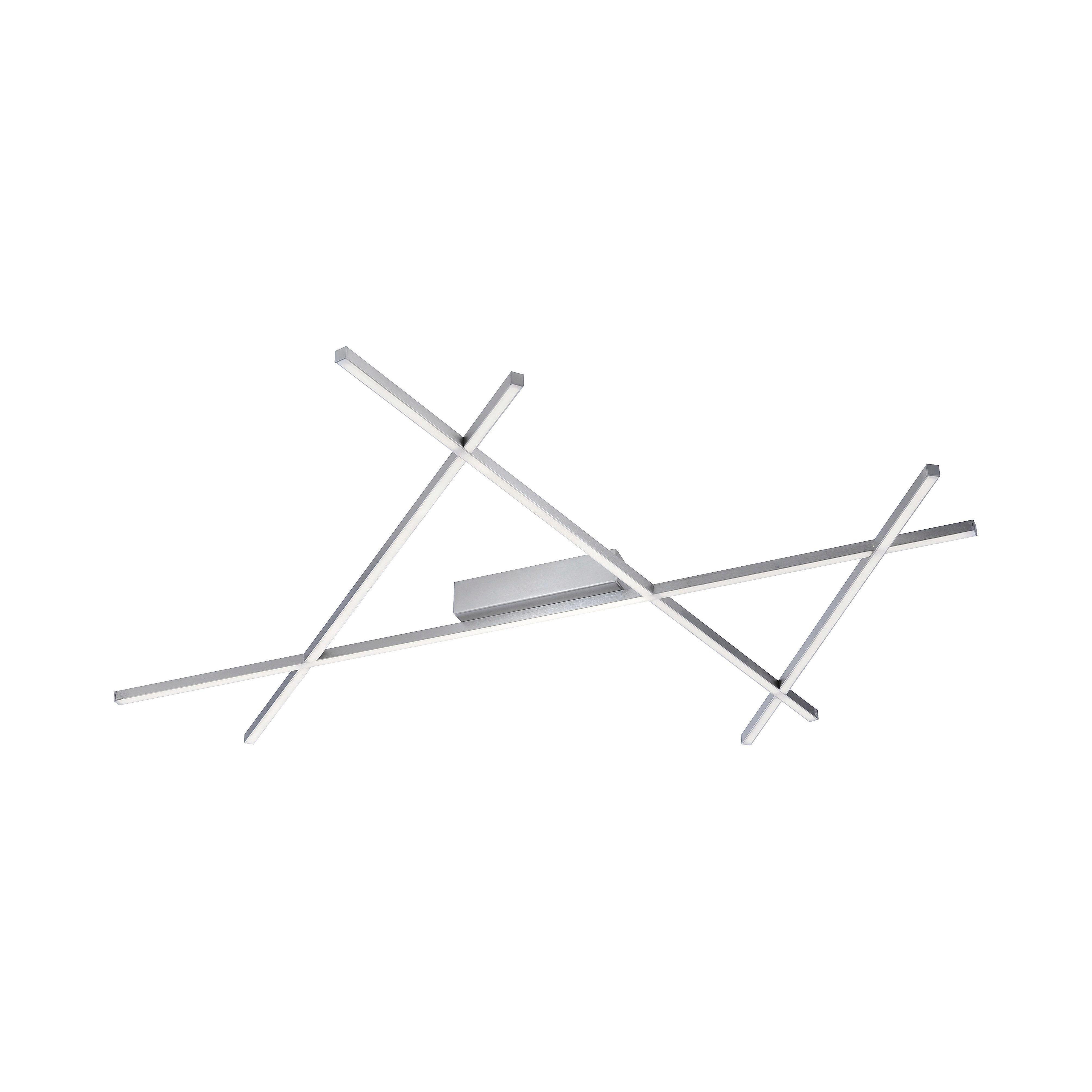 LED STROPNÍ SVÍTIDLO - barvy niklu, Moderní, kov (102/91/5,7cm) - AMBIENTE