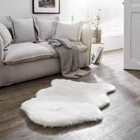 KUNSTFELL  80/110 cm  Weiß   - Weiß, Natur, Textil (80/110cm) - Boxxx