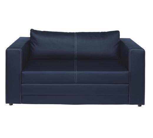 SCHLAFSOFA Lederlook Blau  - Blau/Schwarz, Design, Kunststoff/Textil (150/78/70cm) - Carryhome