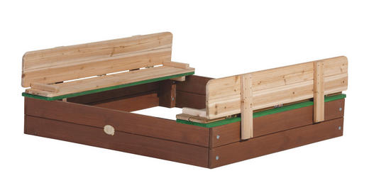 SANDKASTEN ELLA XL - Braun/Grün, KONVENTIONELL, Holz (120/20/120cm)
