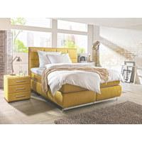 BOXSPRINGBETT 180/200 cm  INKL. Matratze - Gelb/Alufarben, Design, Textil (180/200cm) - Joop!