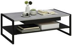 COUCHTISCH in Metall, Holzwerkstoff 110/60/40 cm   - Schwarz/Grau, Design, Holzwerkstoff/Metall (110/60/40cm) - Carryhome