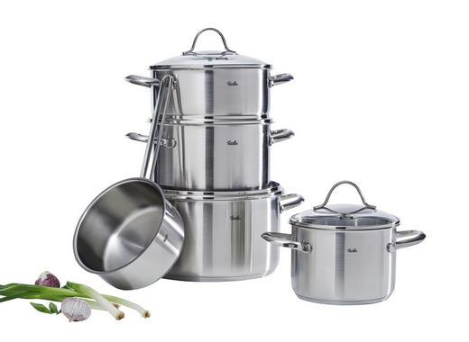 SET POSOD 5/1 PALERMO - srebrna, Basics, kovina/steklo (27,5/25,5/51,0cm) - Fissler