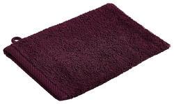 WASCHHANDSCHUH  Pflaume   - Pflaume, Basics, Textil (16/22cm) - Esposa