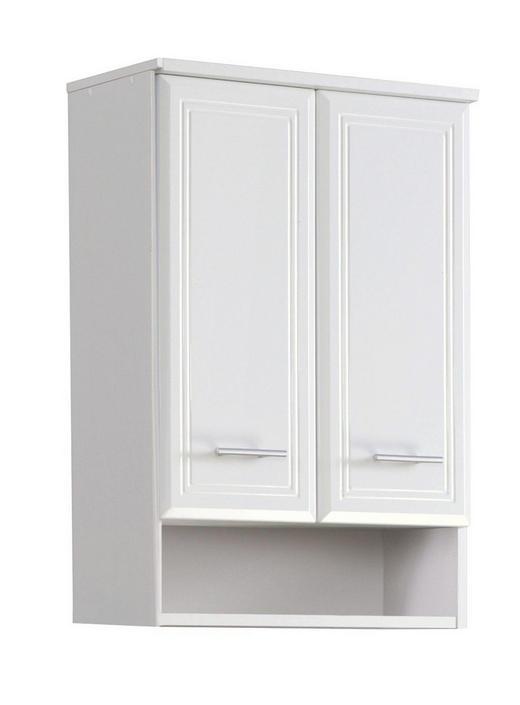 HÄNGESCHRANK Weiß - Silberfarben/Weiß, Design, Holzwerkstoff/Kunststoff (50/71/20cm) - Carryhome