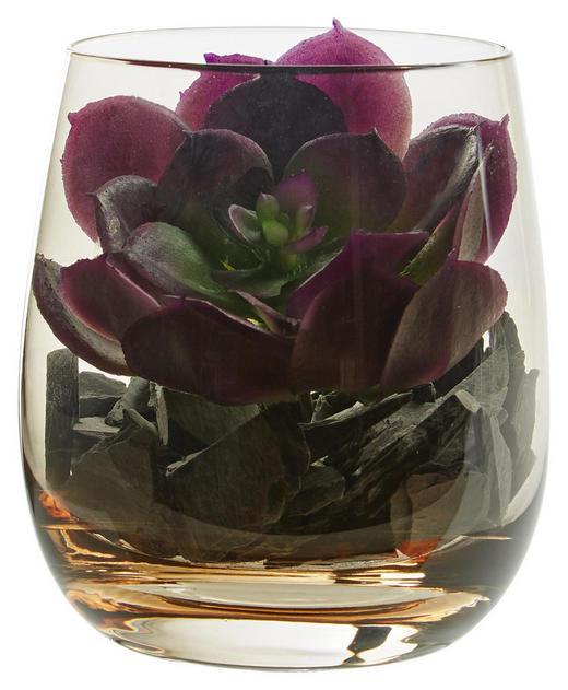 DEKOGLAS 9,7 - Braun, KONVENTIONELL, Glas/Kunststoff (8,40/9,70/8,40cm) - Leonardo