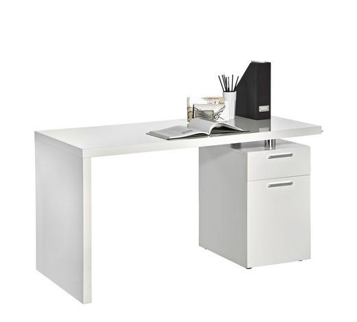SCHREIBTISCH - Chromfarben/Weiß, Design, Holzwerkstoff/Kunststoff (140/75/65cm) - Boxxx