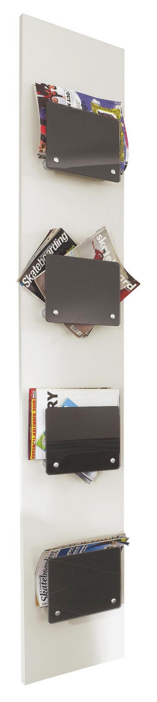 WANDPANEEL - Graphitfarben/Weiß, Design, Glas/Holzwerkstoff (35/200/8cm) - Xora