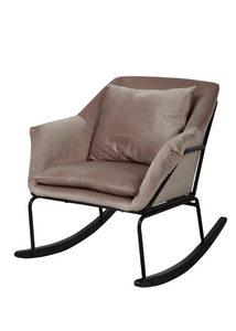 GUNGSTOL - beige/svart, Trend, metall/trä (85/76/70cm) - Ambia Home