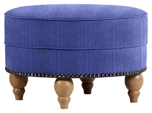 HOCKER in Textil Pflaume - Pflaume/Eichefarben, Design, Holz/Textil (77/43cm) - Carryhome