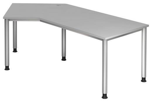 SCHREIBTISCH Grau, Silberfarben - Silberfarben/Grau, KONVENTIONELL, Metall (210/68-76/113cm)