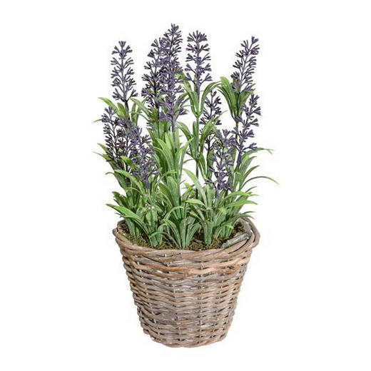 KUNSTBLUME Lavendel - Lila/Grün, Trend, Kunststoff/Weitere Naturmaterialien (30cm)