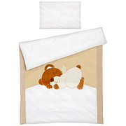 Babybettwäsche 100/135 cm - Beige/Creme, Basics, Textil (100/135cm) - MY BABY LOU
