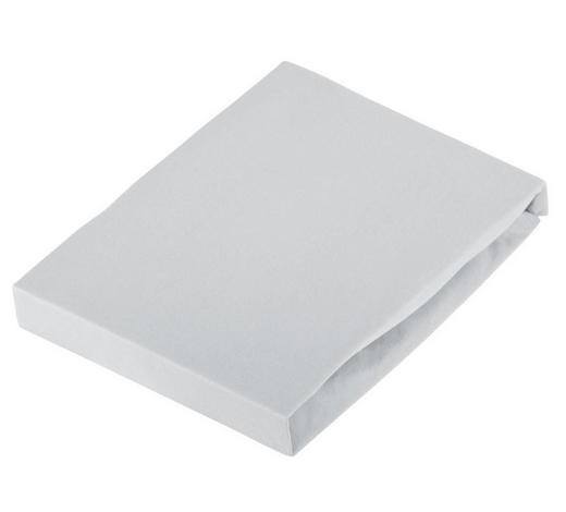 PROSTĚRADLO NAPÍNACÍ, žerzej, 120/200 cm - světle šedá, Basics, textil (120/200cm) - Novel