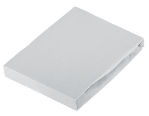 SPANNBETTTUCH Jersey Grau bügelfrei - Grau, Basics, Textil (180/200cm) - Novel