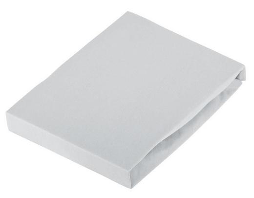 SPANNBETTTUCH Jersey Hellgrau bügelfrei - Hellgrau, Basics, Textil (100/200cm) - Novel