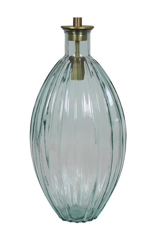 TISCHLEUCHTE - Silberfarben, MODERN, Glas/Metall (27/27/63cm)