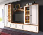 OBÝVACÍ STĚNA, bílá - bílá/barvy hliníku, Konvenční, kov/dřevěný materiál (300/216/53cm)