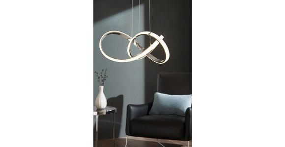 LED-HÄNGELEUCHTE  - Chromfarben, Design, Metall (55/150/55cm) - Ambiente