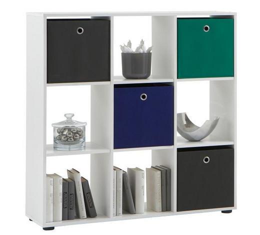 REGAL bijela  drvni materijal  - bijela/crna, Design, drvni materijal/plastika (104,5/108,5/33,0cm) - Boxxx