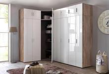 KOMMODE 46/55/40 cm  - Chromfarben/Eichefarben, Design, Holzwerkstoff/Kunststoff (46/55/40cm) - Xora