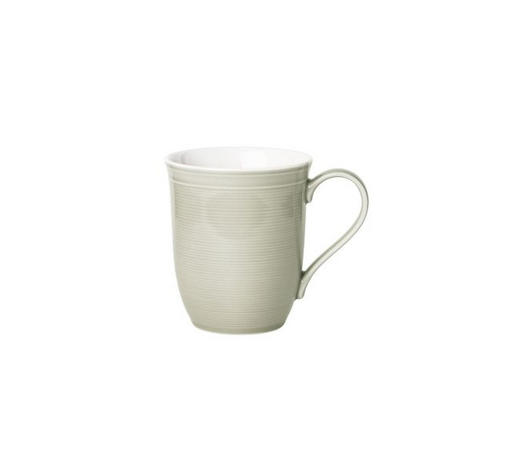 JUMBOTASSE 350 ml  - Hellgrau/Weiß, Design, Keramik (9,96/10,35cm) - Novel
