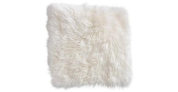 SITZKISSEN  34/34 cm   - Weiß, KONVENTIONELL, Textil/Fell (34/34cm) - Esposa