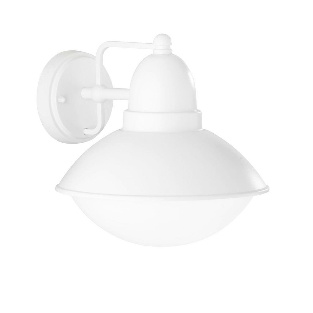 AUßENWANDLEUCHTE , Weiß , Metall, Kunststoff , 22.5x22 cm , Außenbeleuchtung, Außenwandleuchten