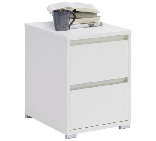 KOMMODE 40/55/48 cm - Alufarben/Weiß, Design, Holzwerkstoff/Kunststoff (40/55/48cm) - Carryhome
