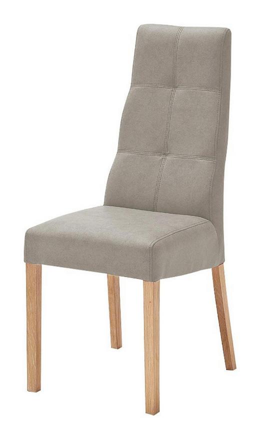 STUHL Lederlook Taupe - Taupe/Buchefarben, Design, Holz/Textil (43/104/58cm) - Carryhome
