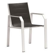 STAPELSESSEL - Schwarz/Weiß, Design, Textil/Metall (56/86/61cm) - Amatio