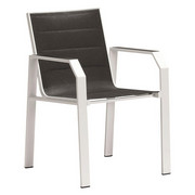 STOLICA SLOŽIVA - bijela/crna, Design, metal/tekstil (56/86/61cm) - Amatio
