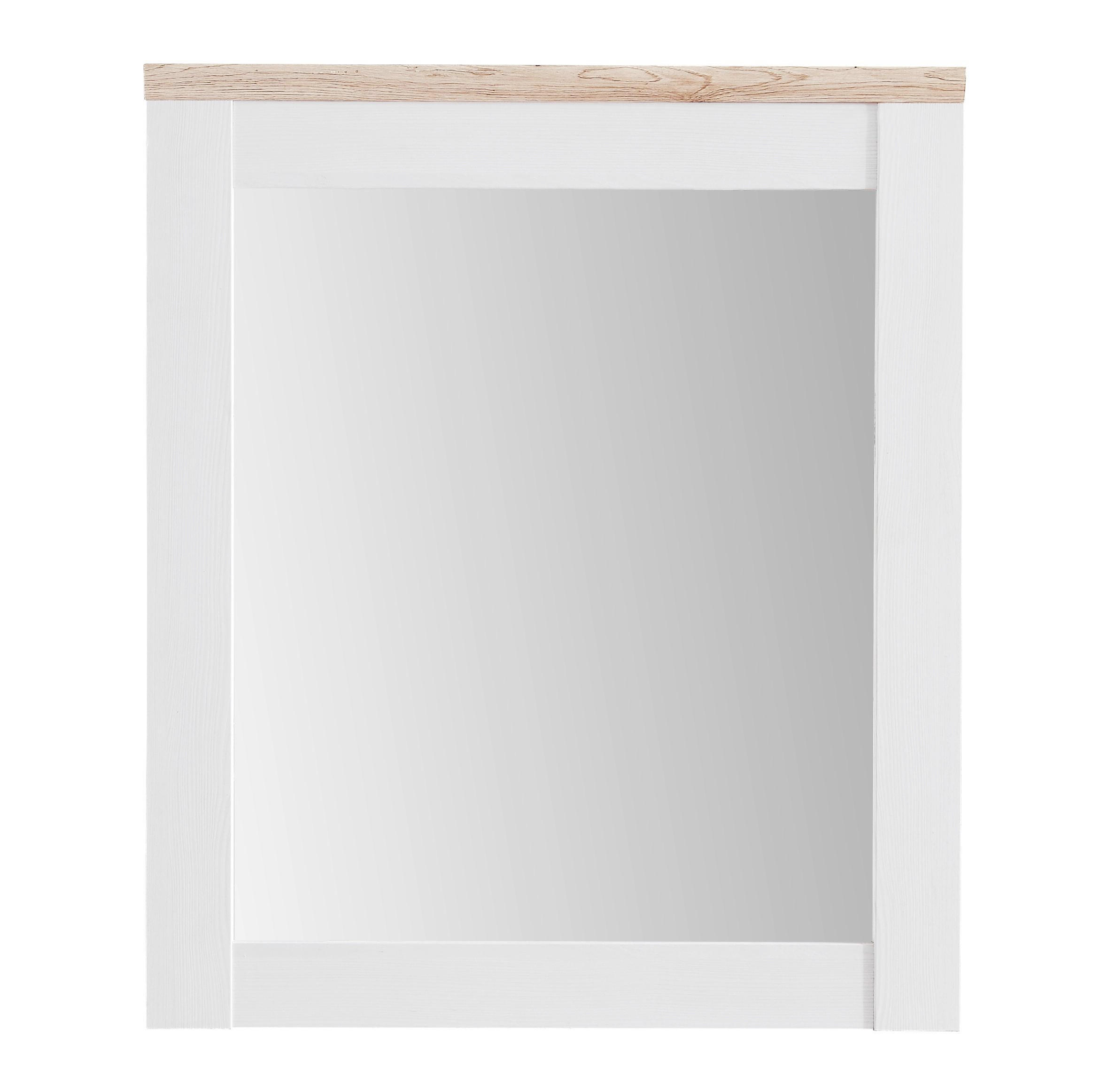 SPIEGEL - Eichefarben/Weiß, LIFESTYLE, Glas/Holzwerkstoff (76/91/4cm) - XORA