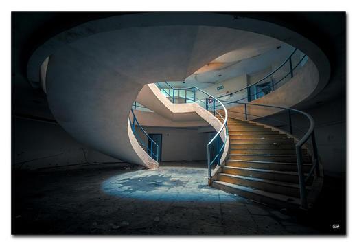 """Architektur BILD """"YOU SPIN ME AROUND"""" - Multicolor, Basics, Holzwerkstoff/Kunststoff (300/200cm) - Wiedemann"""