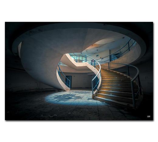 """Architektur BILD """"YOU SPIN ME AROUND""""  - Multicolor, Basics, Holzwerkstoff/Kunststoff (120/80cm) - Wiedemann"""