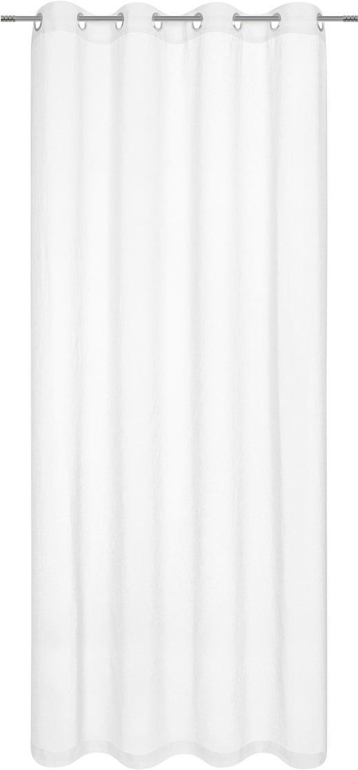 ÖSENSCHAL  blickdicht  140/245 cm - Weiß, KONVENTIONELL, Textil (140/245cm) - Ambiente