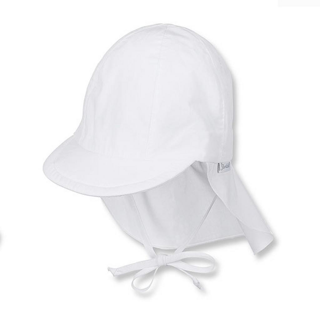 Sterntaler Schirmmütze mit Nackenschutz Weiß 51