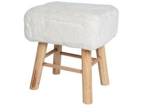 PALL - vit/naturfärgad, Trend, trä/textil (37/27/42cm) - Ambia Home