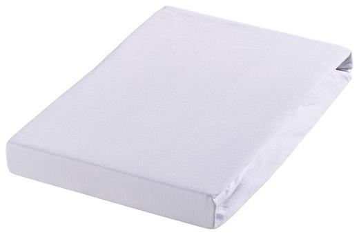 SPANNBETTTUCH Biber Weiß bügelfrei - Weiß, Textil (200/200cm) - Janine