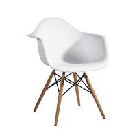 STOLICA - bijela, Design, drvo/metal (61/77,5/62cm) - Ambia Garden
