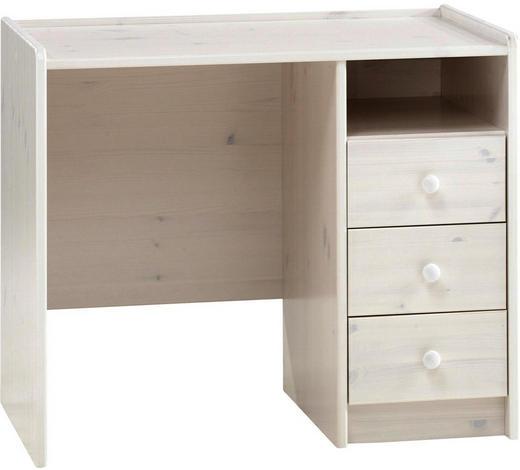 SCHREIBTISCH Kiefer massiv Weiß  - Weiß, Design, Holz (89/74/54cm) - Carryhome