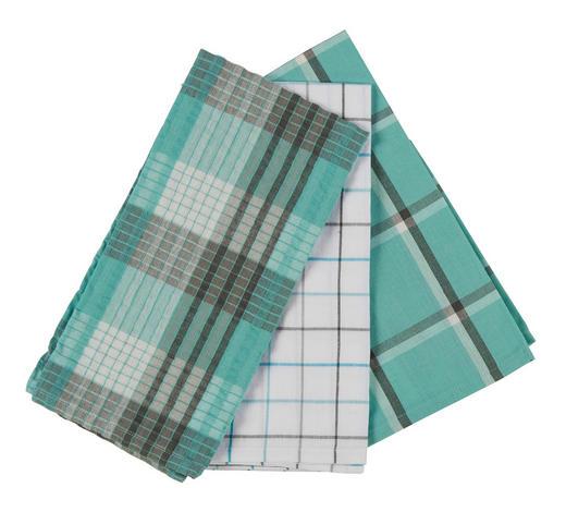 GESCHIRRTUCH 3-teilig Türkis - Türkis, KONVENTIONELL, Textil (50/70cm) - Esposa